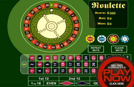 Play Online Roulette Flash Game Now